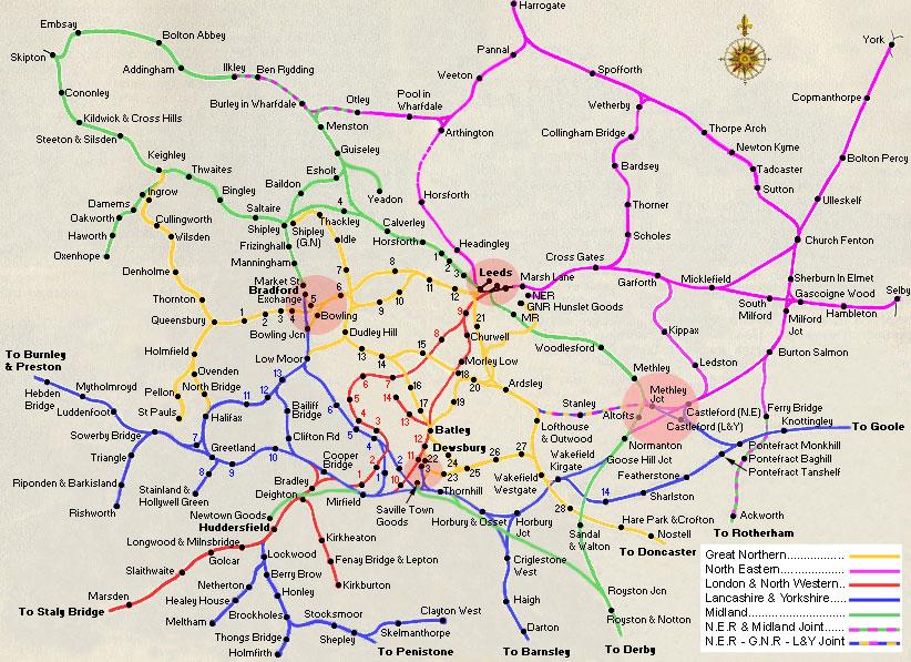 west yorks railway map