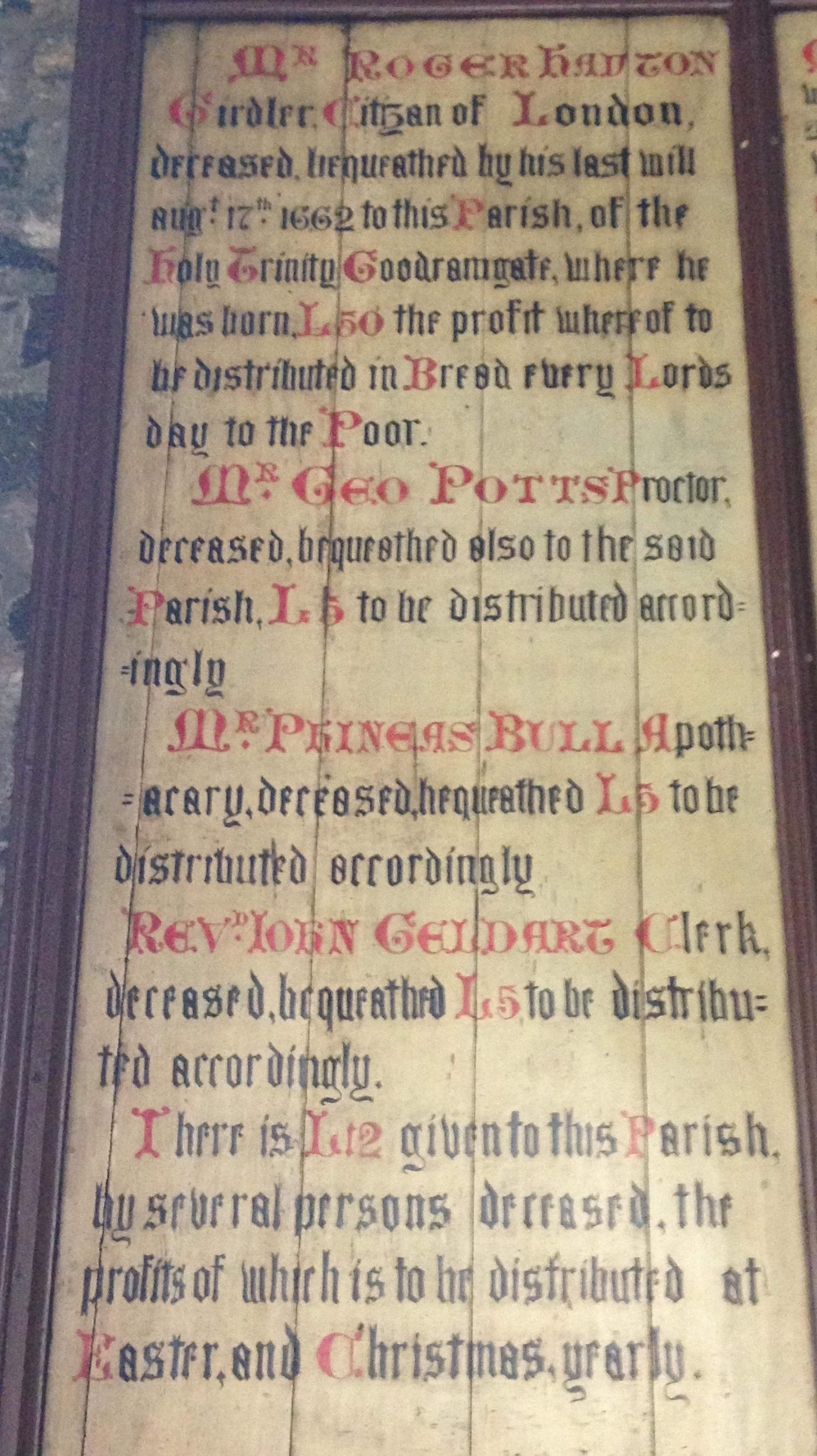 Holy Trinity  Goodramgate & Charity
